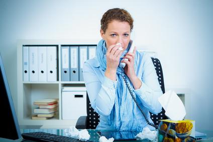 grippe am arbeitsplatz